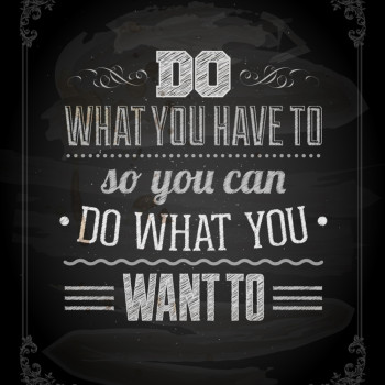 "Quote Typographical Background, vector design. ""Do what you have"